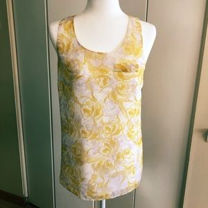 GORGEOUS AHINY Floral Twist Back Lined Tank